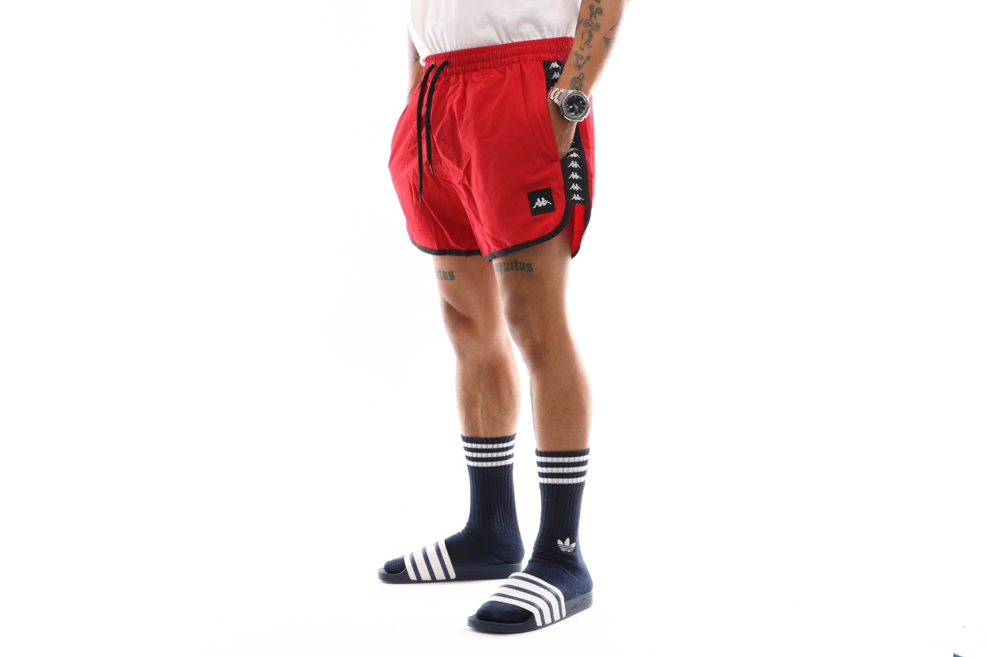Afbeelding van Kappa Authentic Agius 303Wh90-998 Swimshort Red-Black-White