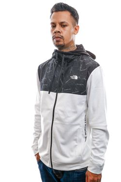 Afbeelding van The North Face Jas Men's Train N Logo Overlay Jacket White NF0A4M9WFN41