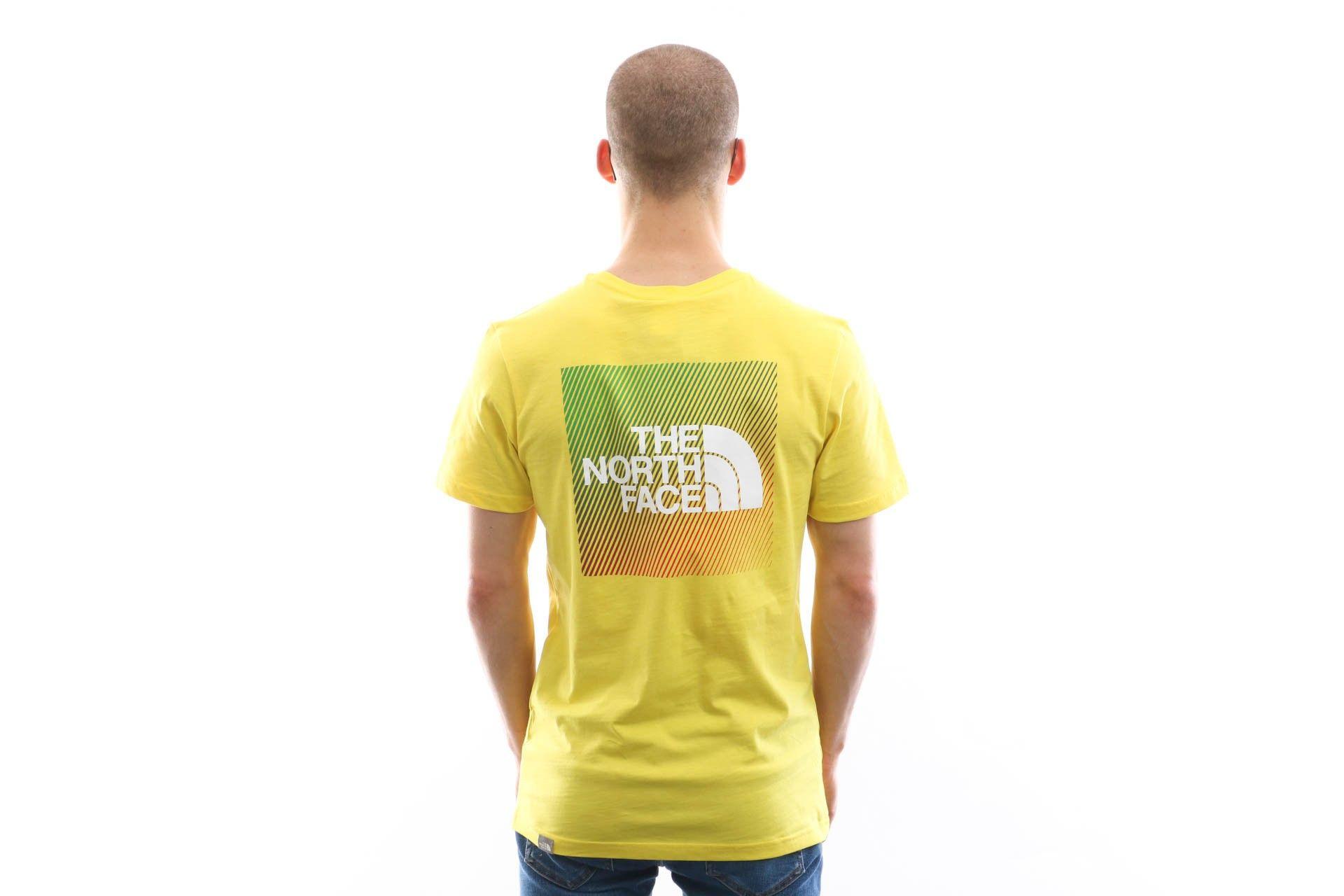 Afbeelding van The North Face T-shirt Men'S Ss Rnbw Tnf Lemon/Tnf White NF0A4M6PP76
