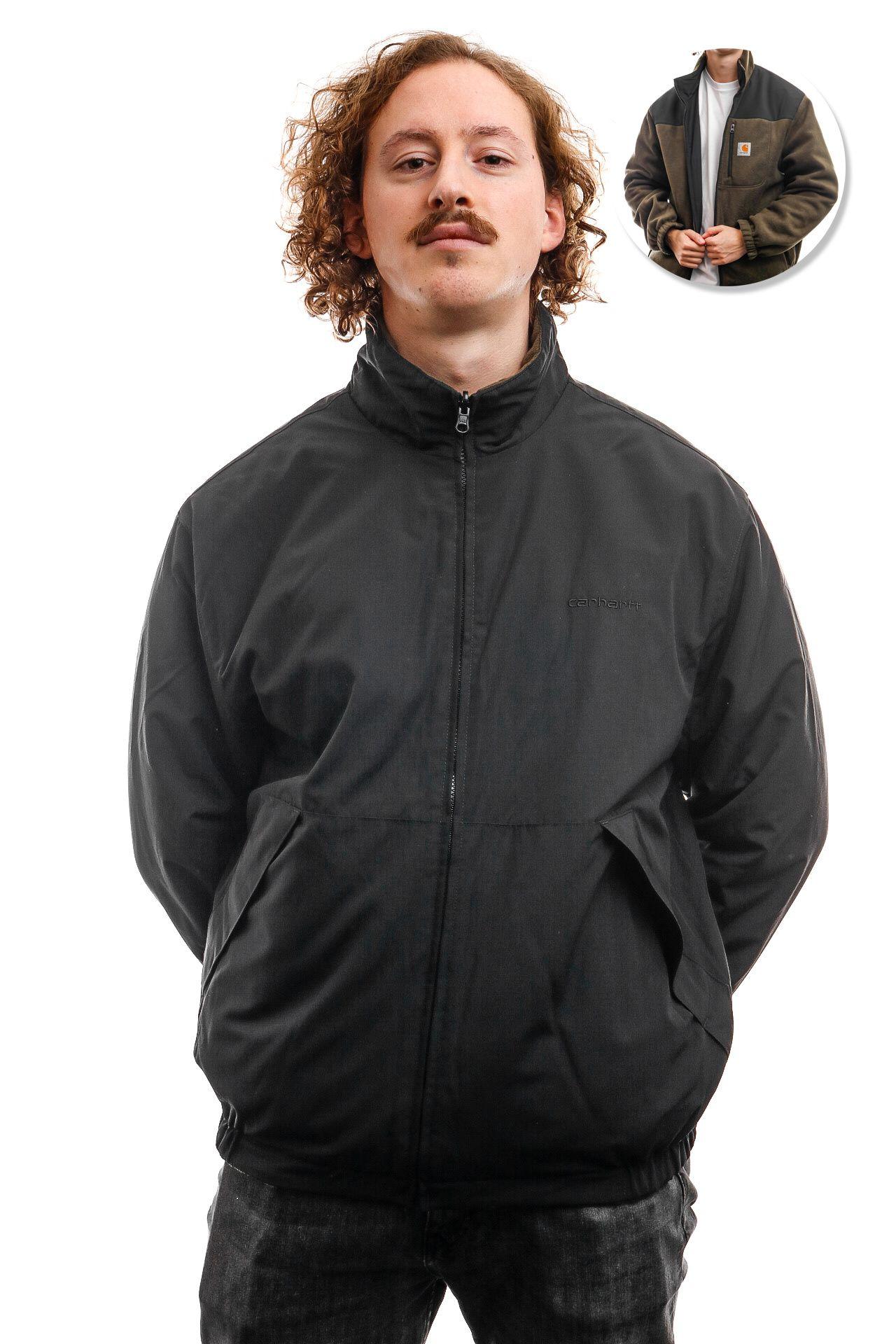 Afbeelding van Carhartt Jacket Denby Reversible Jacket Black / Cypress I028094