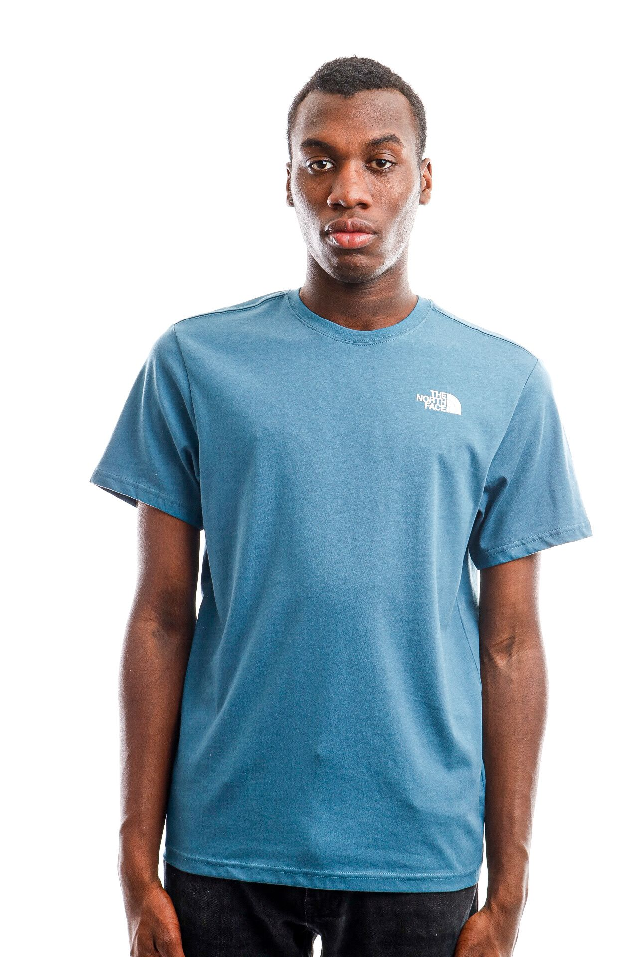 Afbeelding van The North Face T-Shirt Men's S/S Redbox Tee - Eu Mallard Blue/Tnf Black NF0A2TX2SF71
