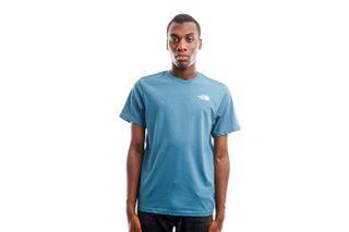 Foto van The North Face T-Shirt Men's S/S Redbox Tee - Eu Mallard Blue/Tnf Black NF0A2TX2SF71