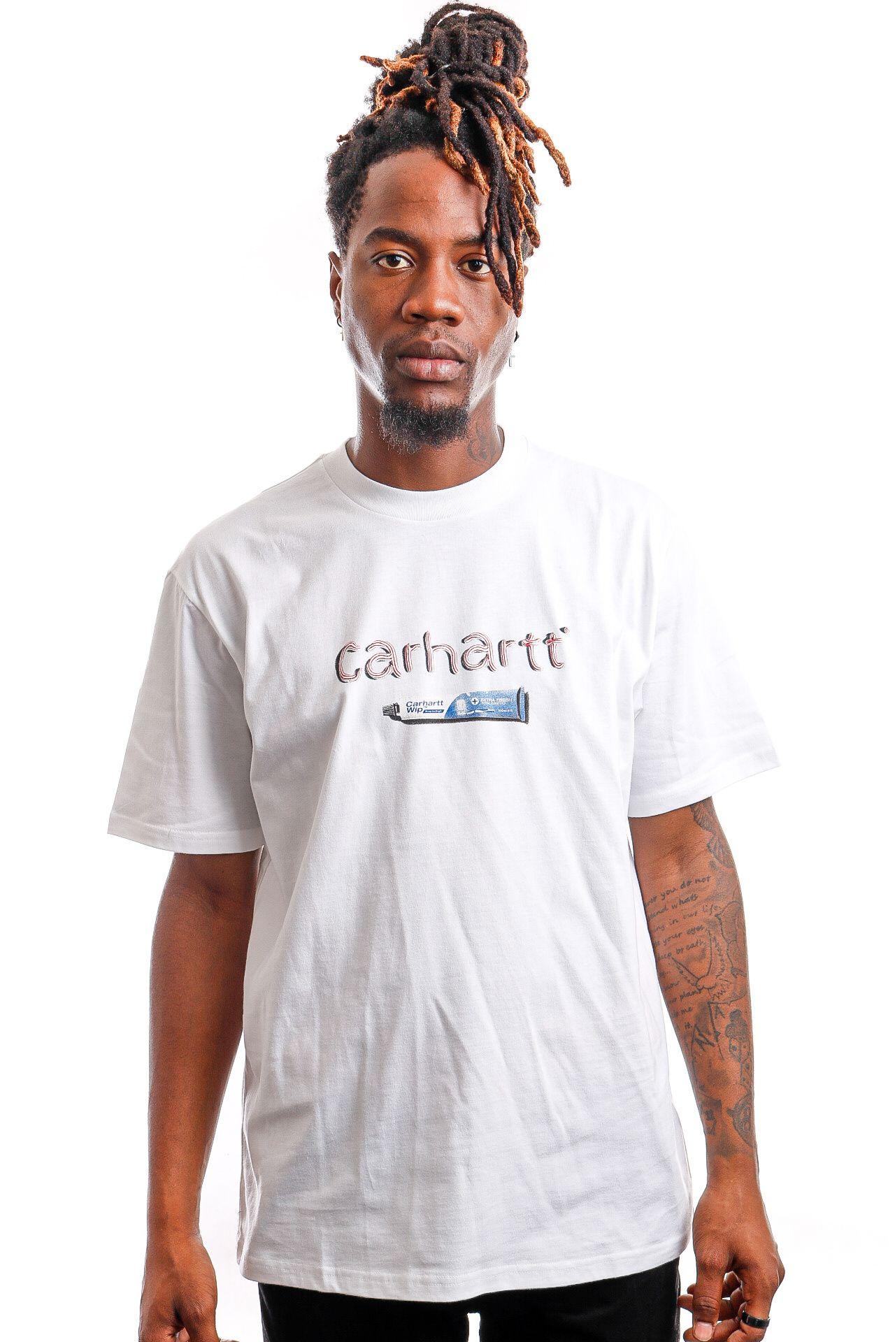 Afbeelding van Carhartt T-shirt S/S Toothpaste White I029605