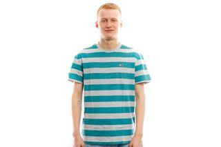 Foto van Tommy Hilfiger T Shirt Tjm Heather Stripe T Saxony Blue Htr DM0DM06542413