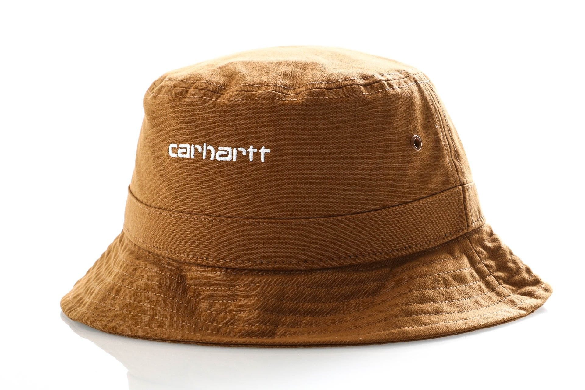Afbeelding van Carhartt Bucket Script Bucket Hat Hamilton Brown / White I026217