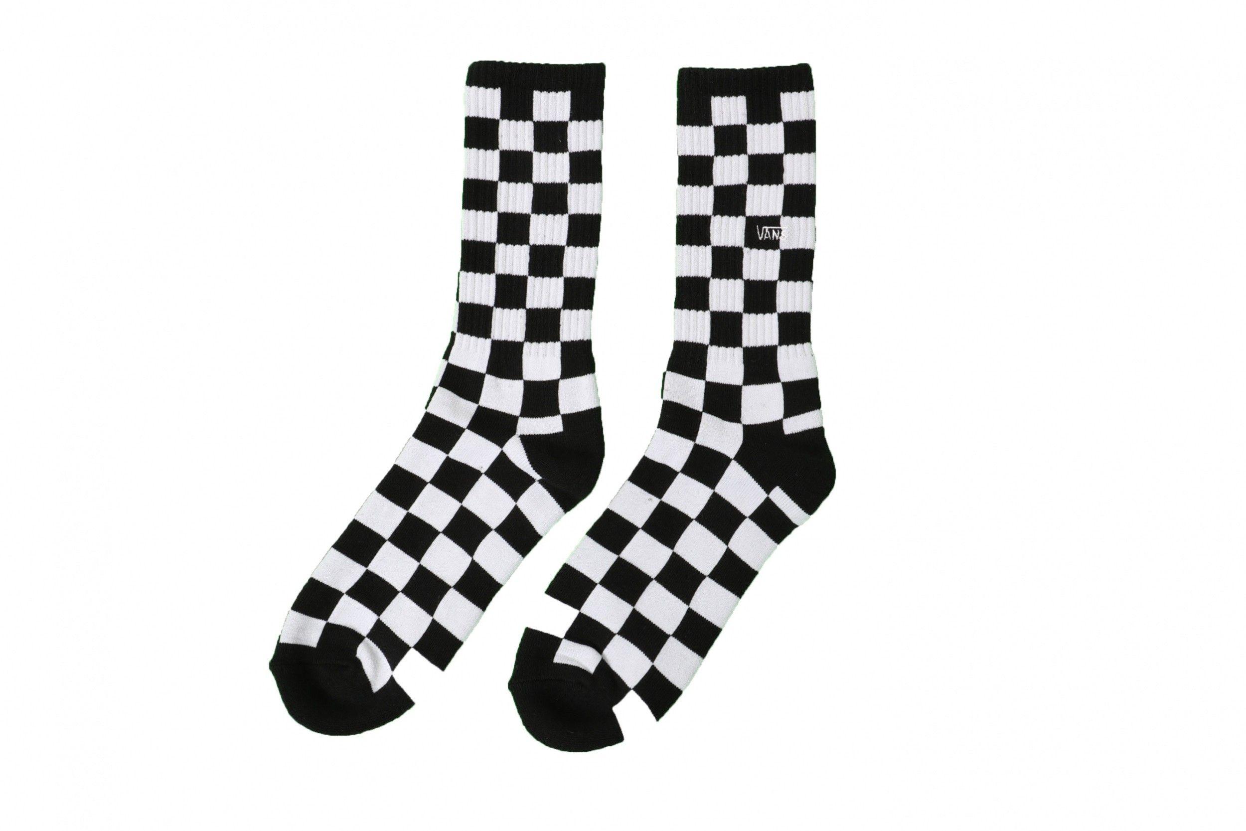 Afbeelding van Vans Checkerboard Crew II VN0A3H3OHU01 Sokken Black-White Check
