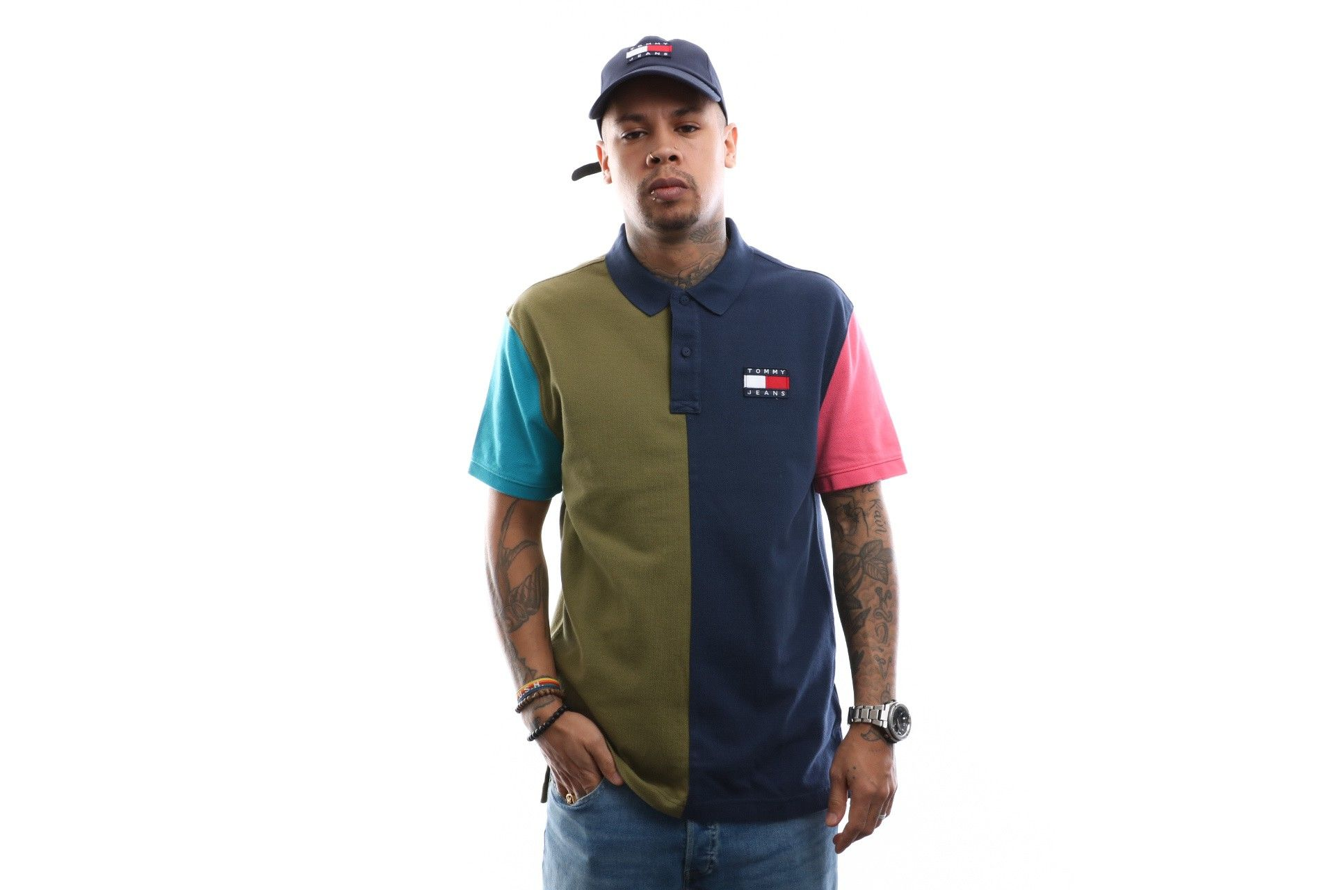 Afbeelding van Tommy Hilfiger Polo shirt Tjm Colorblock Badge Polo Twilight Navy / Multi DM0DM07778