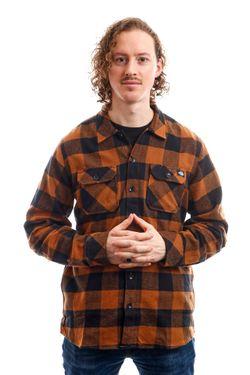 Afbeelding van Dickies Overhemd Sacramento Shirt Brown Duck DK0A4X8NBD01