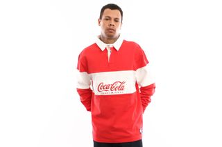 Foto van Tommy Hilfiger Tjm Tommy X Coca Cola Rugby Dm0Dm06691 Polo Longsleeve Coca Cola