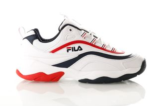 Foto van Fila Ray Low 1010561 Sneakers White/Fila Navy / Fila Red