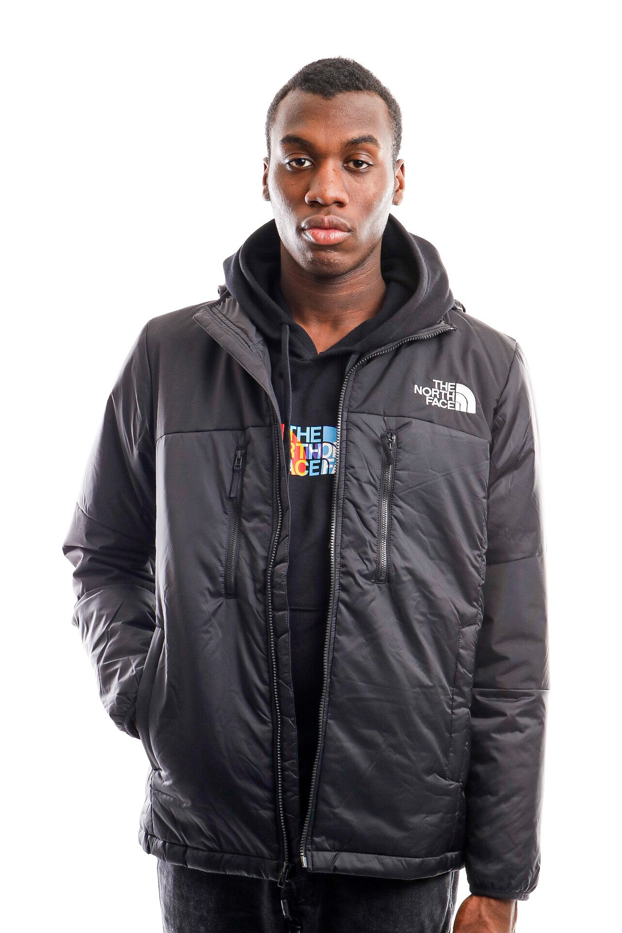 Afbeelding van The North Face Jacket Men's Himalayan Light Synth Hoodie Tnf Black NF0A3L2GJK31