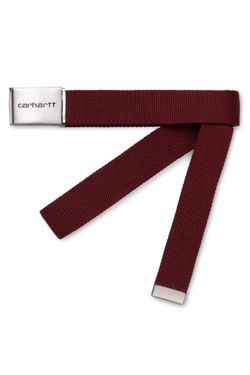 Afbeelding van Carhartt Riem Clip Belt Chrome Bordeaux I019176