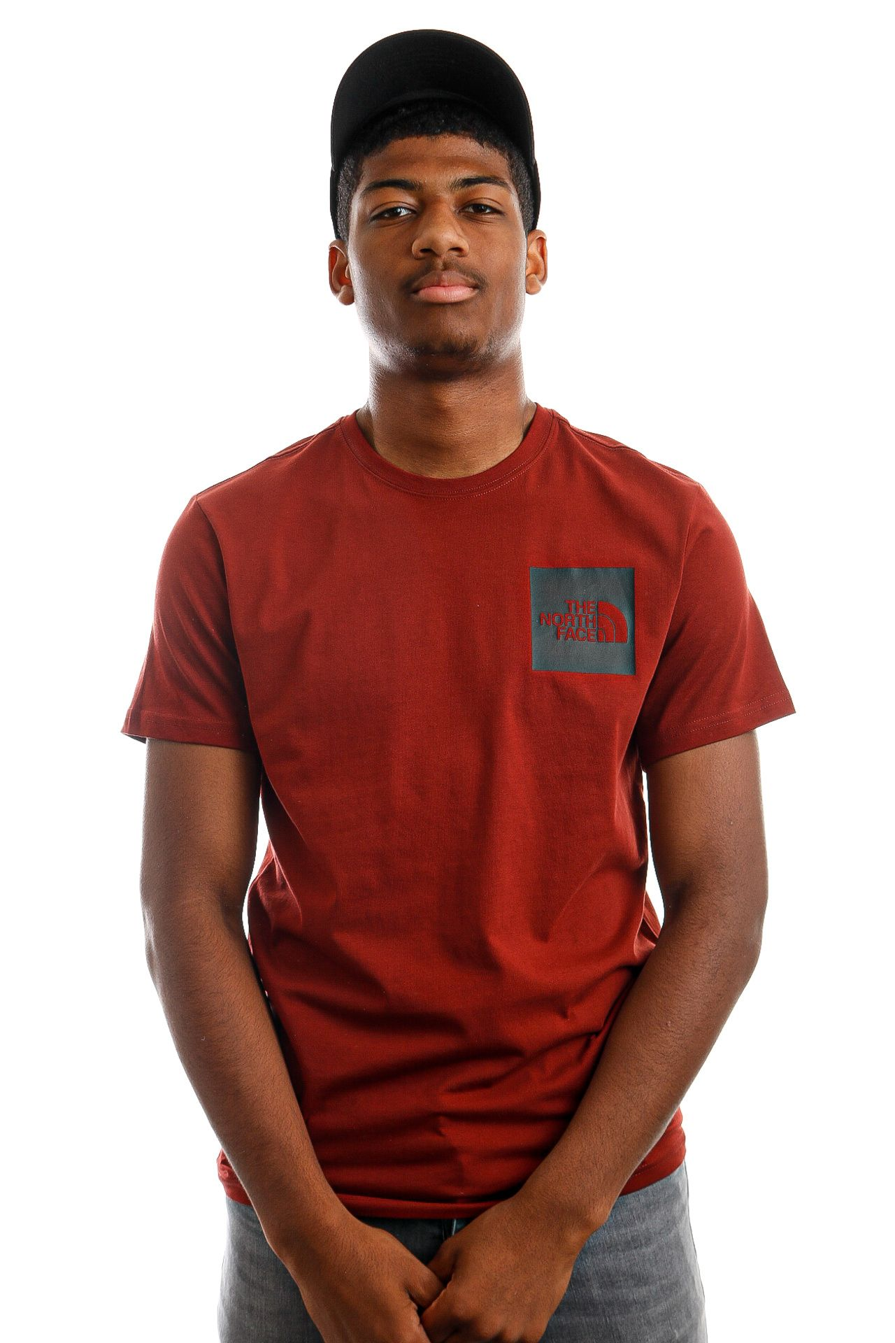 Afbeelding van The North Face NF00CEQ5BDQ1 T-Shirt Mens S/S Fine Brick House Red