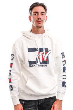 Afbeelding van Tommy Jeans Hoodie TJU X MTV White DM0DM12201