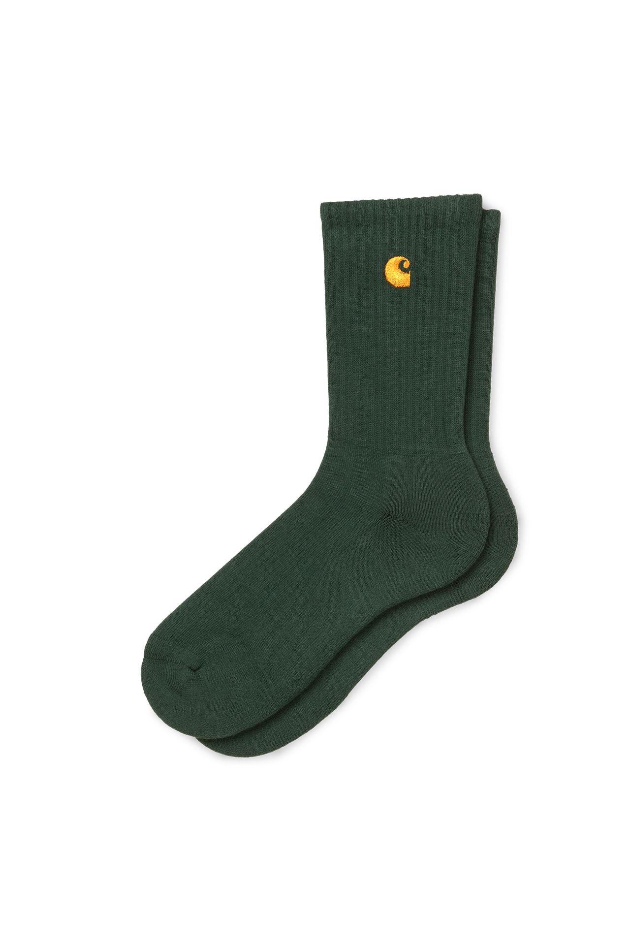 Afbeelding van Carhartt Sokken Chase Socks Bottle Green / Gold I026527