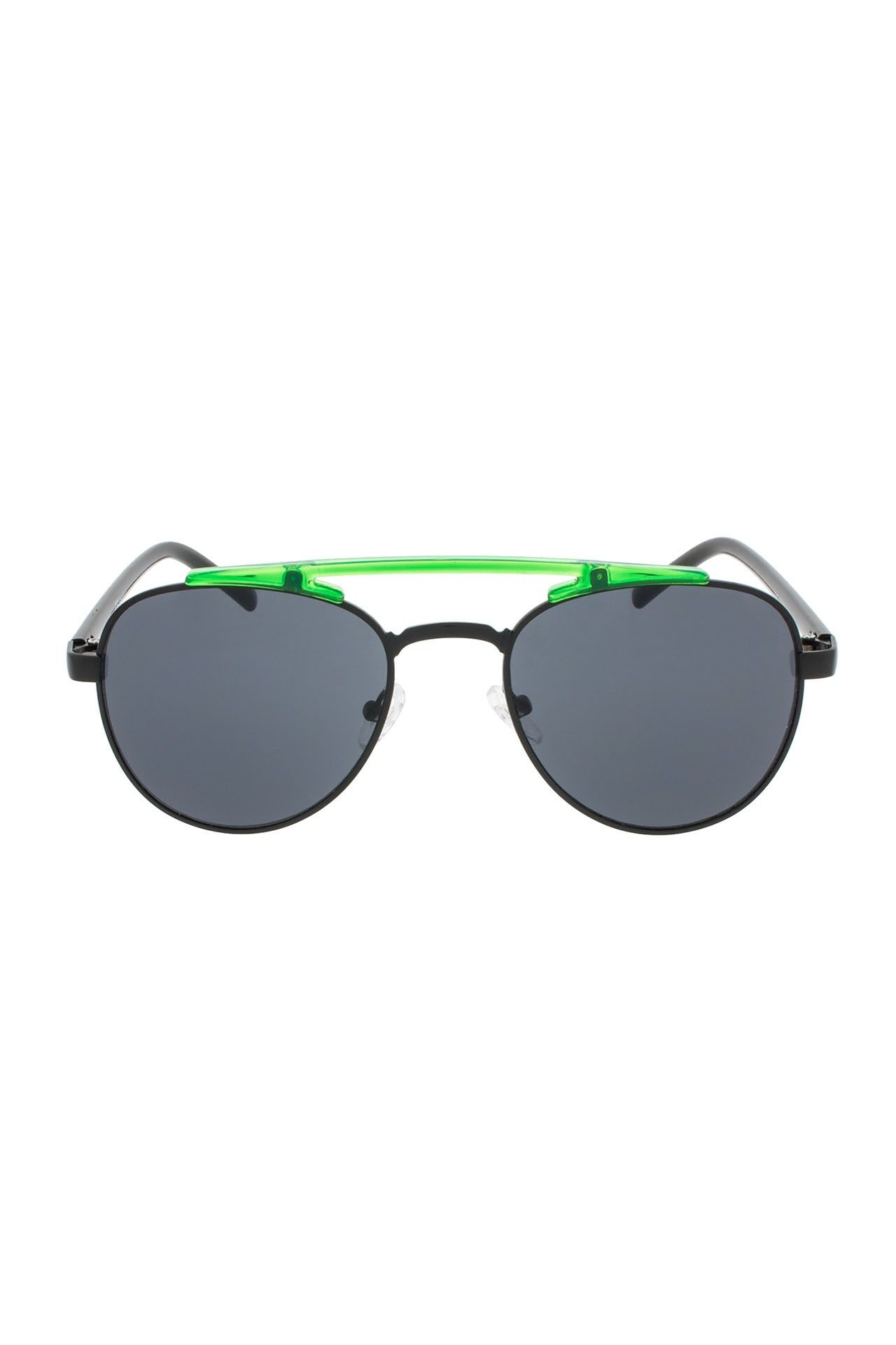 Afbeelding van Icon Eyewear 17M7030 Clear Neon Lime Green With Black Temples / Smoke