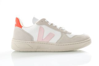 Foto van Veja Sneakers V-10 White Petale/Orange Fluo VX012142