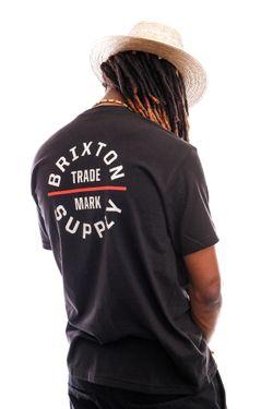 Afbeelding van Brixton T-shirt OATH V S/S STT Black/Vanilla 16410