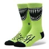 Stance X Billie Eilish Grin U558B19Gri Sokken Neongreen