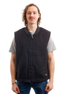 Afbeelding van Dickies Vest Sherpa Lined Vest Black DK0A4X8UBLK1