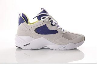 Foto van Arkk Kanetyk Suede W13 -M El3801-2251-M Sneakers Wind Grey Bright Blue
