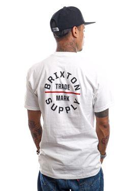 Afbeelding van Brixton T-shirt OATH V S/S STT White/Red 16410