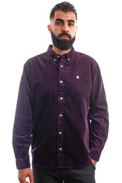 Afbeelding van Carhartt Blouse L/S Madison Cord Shirt Dark Iris / Wax I029958