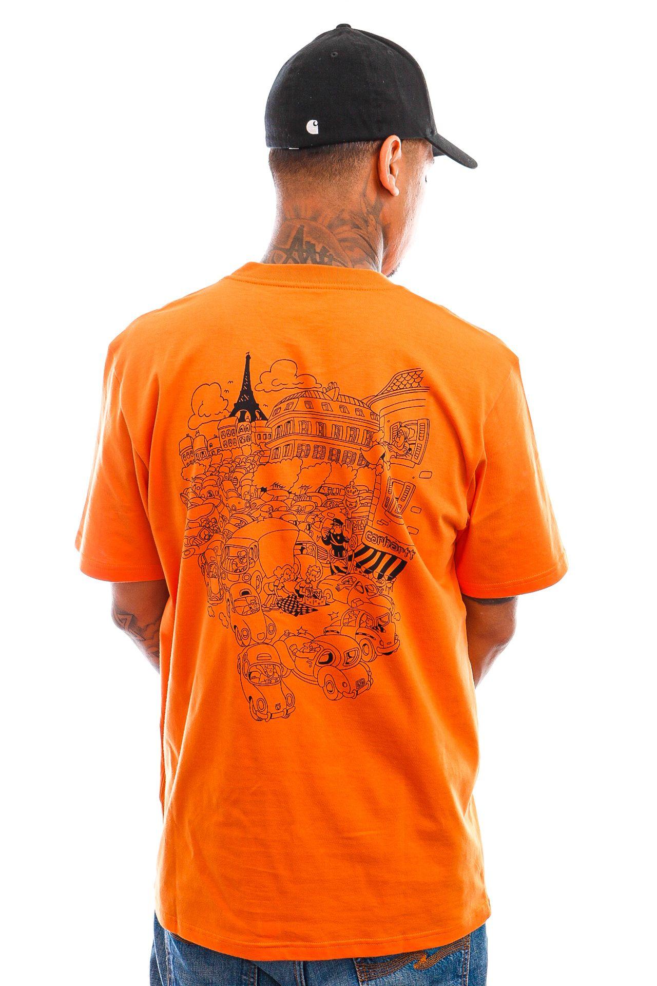 Afbeelding van Carhartt T-shirt S/S Picnic In Paris T-Shirt Hokkaido I029932