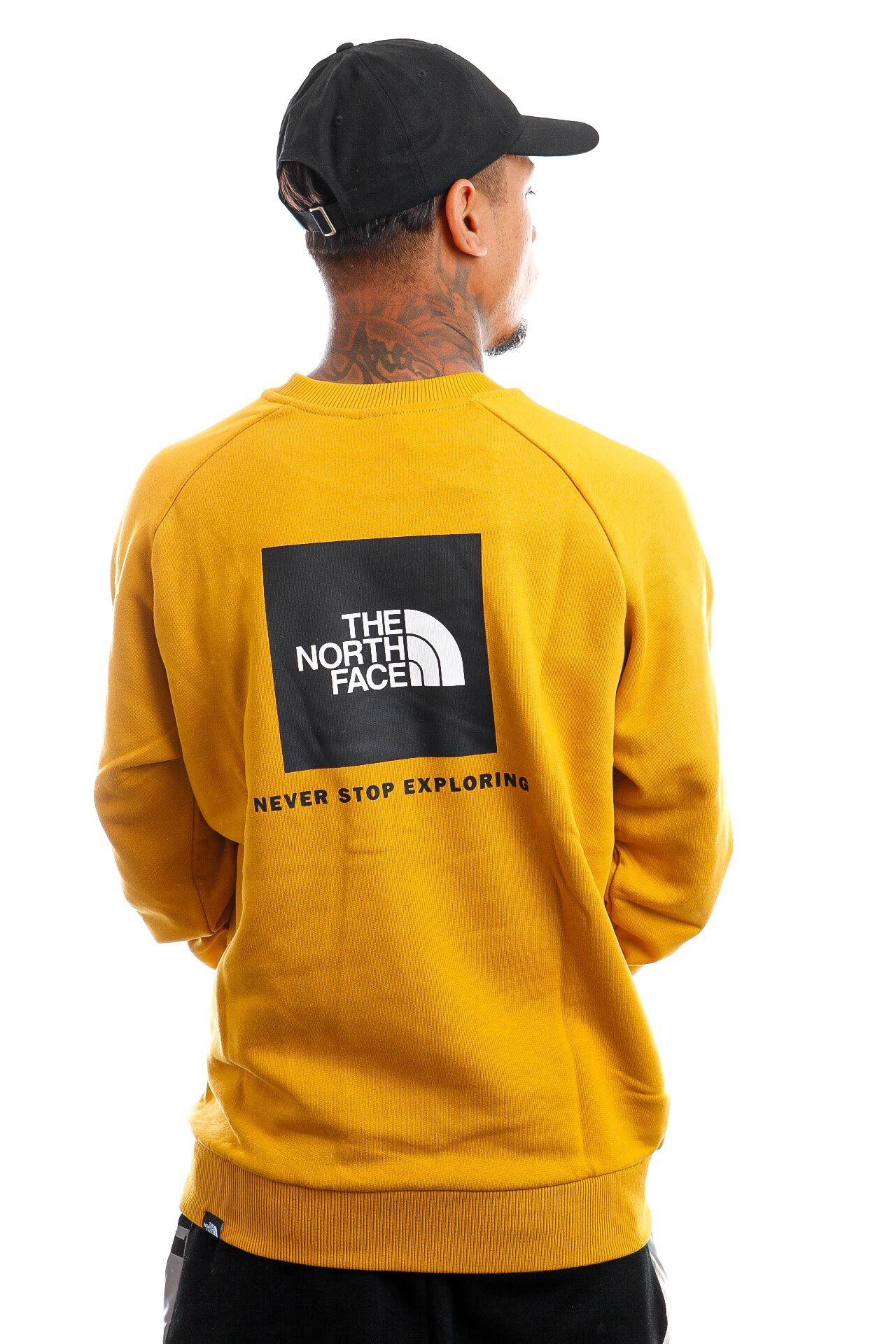 Afbeelding van The North Face Crewneck M RAGLAN REDBOX CREW ARROWWOOD YELLOW NF0A4SZ9H9D1