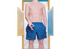 Afbeelding van Pockies Swimshort Cherso Navy Blue - Donuts