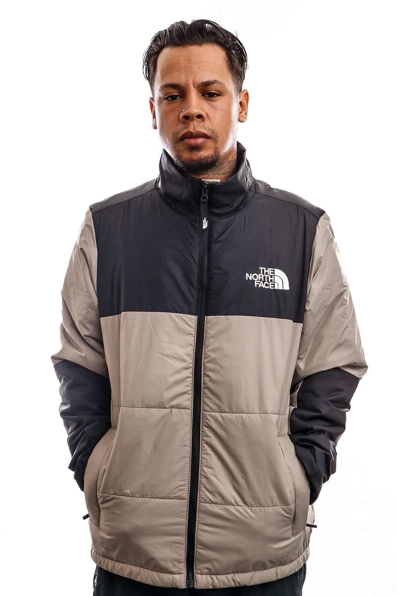 Afbeelding van The North Face Jas Mens Gosei Puffer Jacket Mineral Grey NF0A557VVQ81