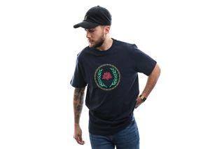 Foto van Woodbird T-shirt Our Karl Crest Tee Dust Blue 2016-414