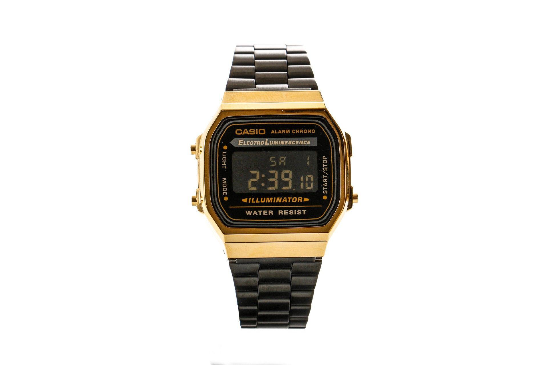 Afbeelding van Casio Horloge A168Wegb Gold/Black