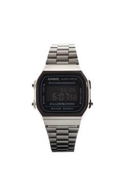 Afbeelding van Casio Horloge A168WEGG Gun Metal/Black