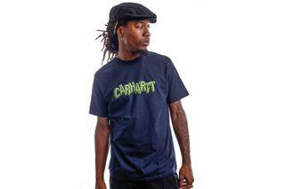 Foto van Carhartt T-Shirt S/S Shattered Script Dark Navy I029604