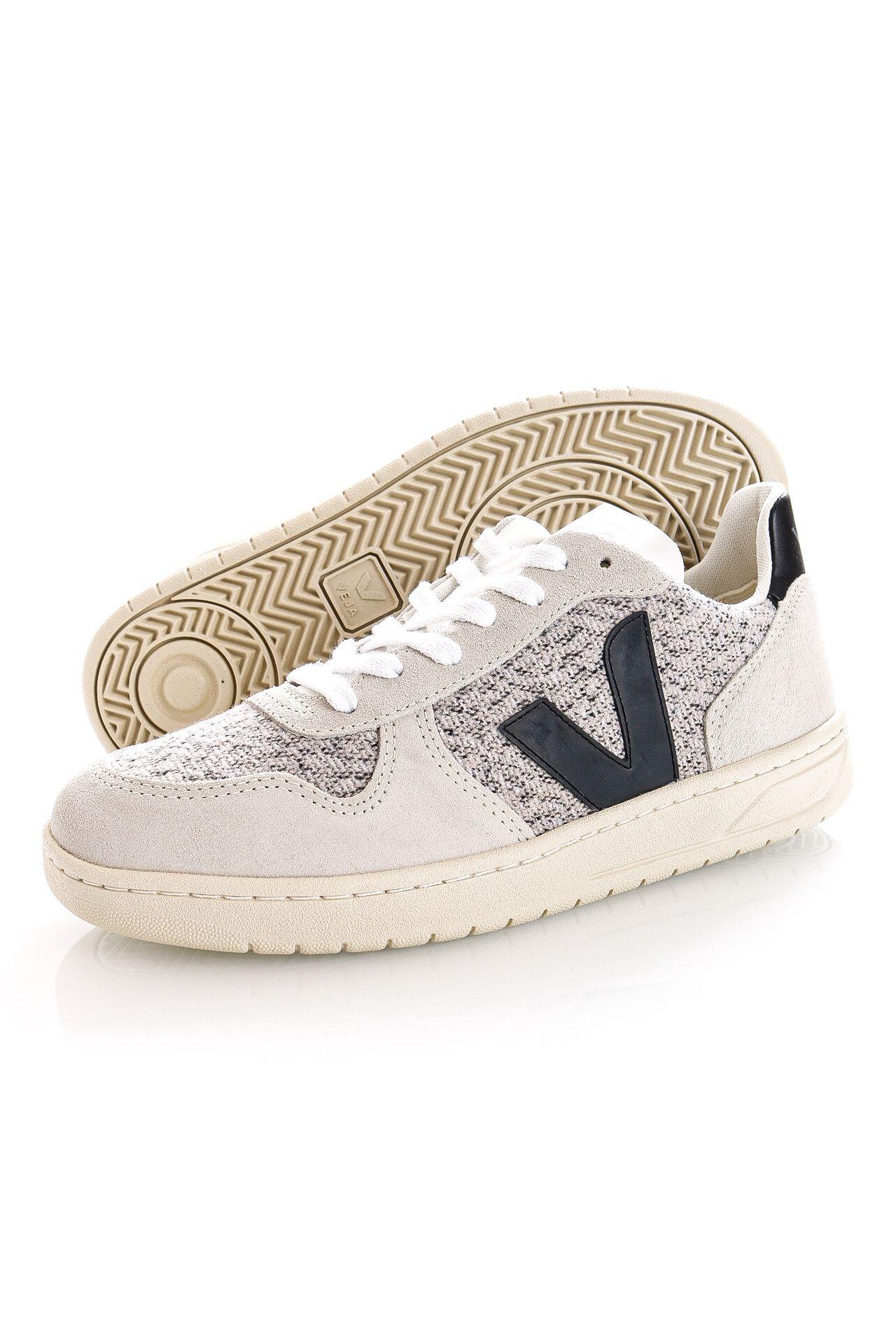 Afbeelding van Veja Sneakers V-10 FLANNEL SNOW BLACK VX0401439B