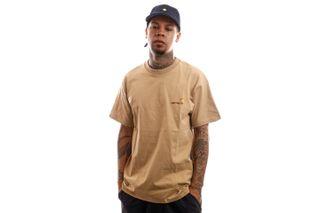Foto van Carhartt T-Shirt S/S American Script T-Shirt Dusty H Brown I029007