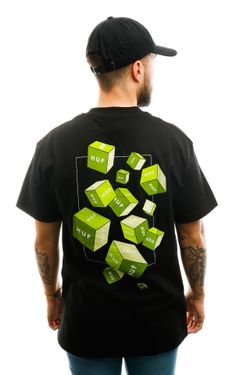 Afbeelding van HUF T-shirt Huf 3D Box S/S Tee Black TS01017-BLACK