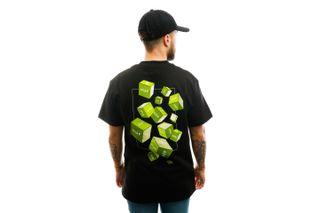 Foto van HUF T-shirt Huf 3D Box S/S Tee Black TS01017-BLACK
