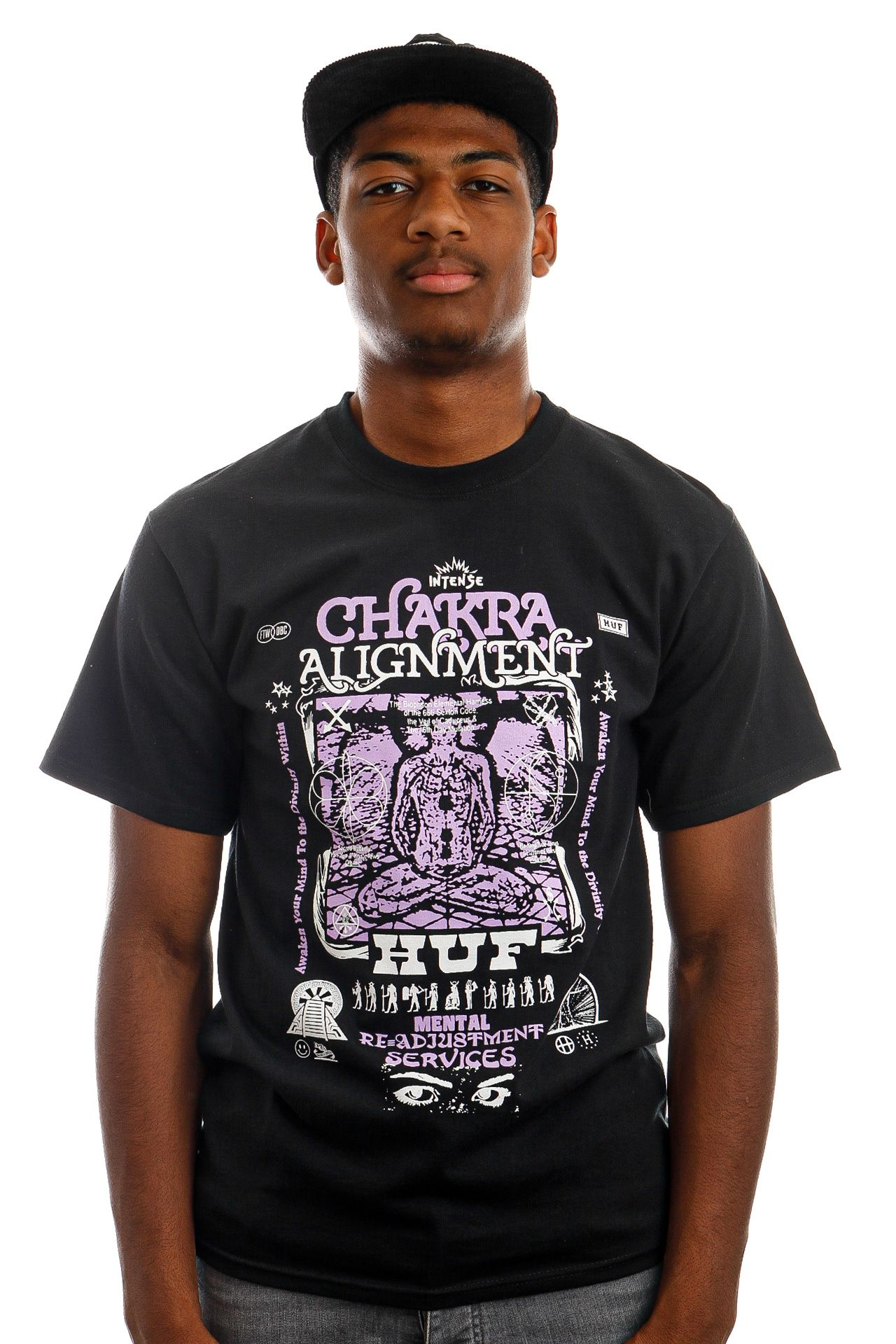 Afbeelding van HUF T-Shirt HUF CHAKRA ALIGNMENT S/S Black TS01501
