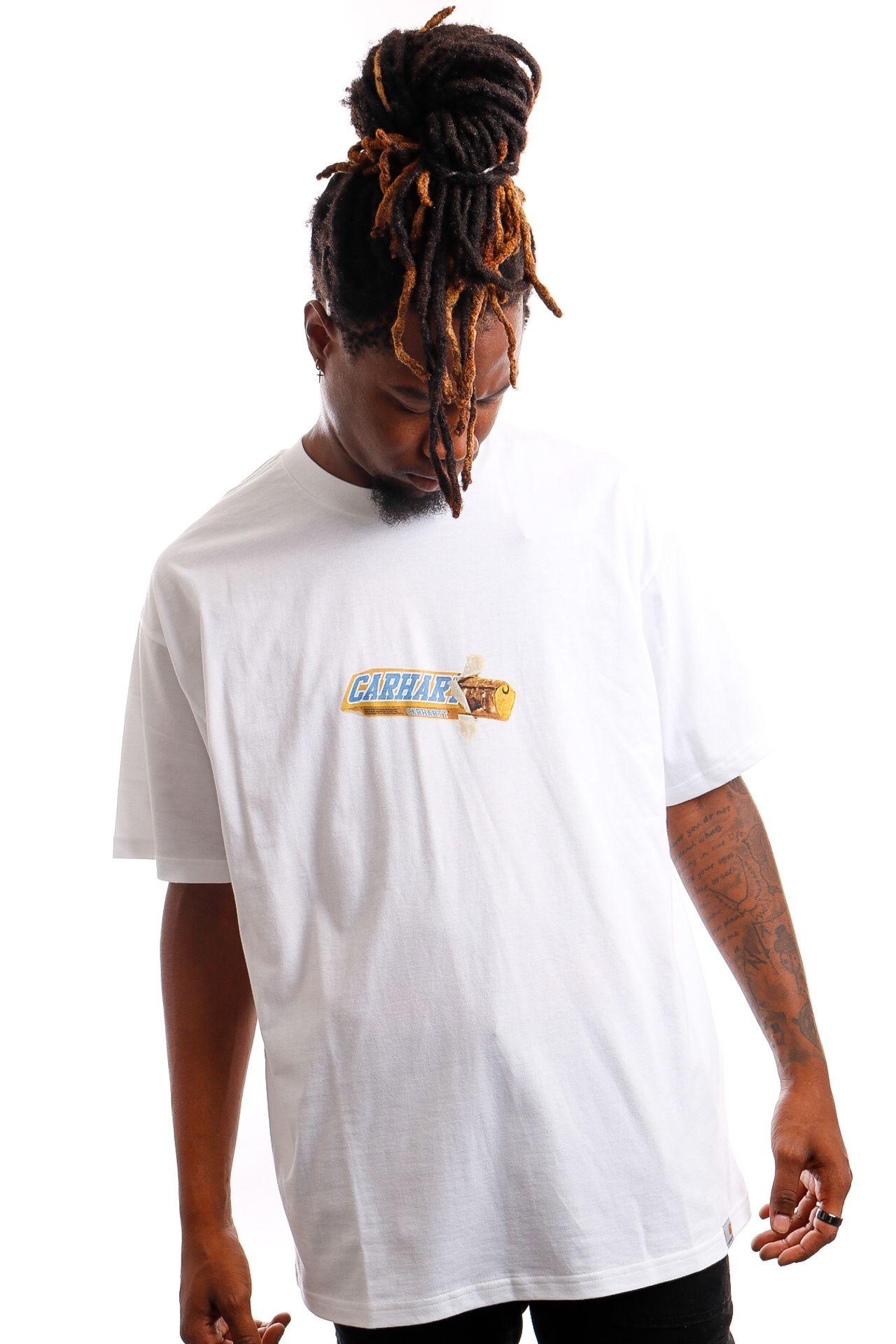 Afbeelding van Carhartt T-shirt S/S Chocolate Bar White I029620