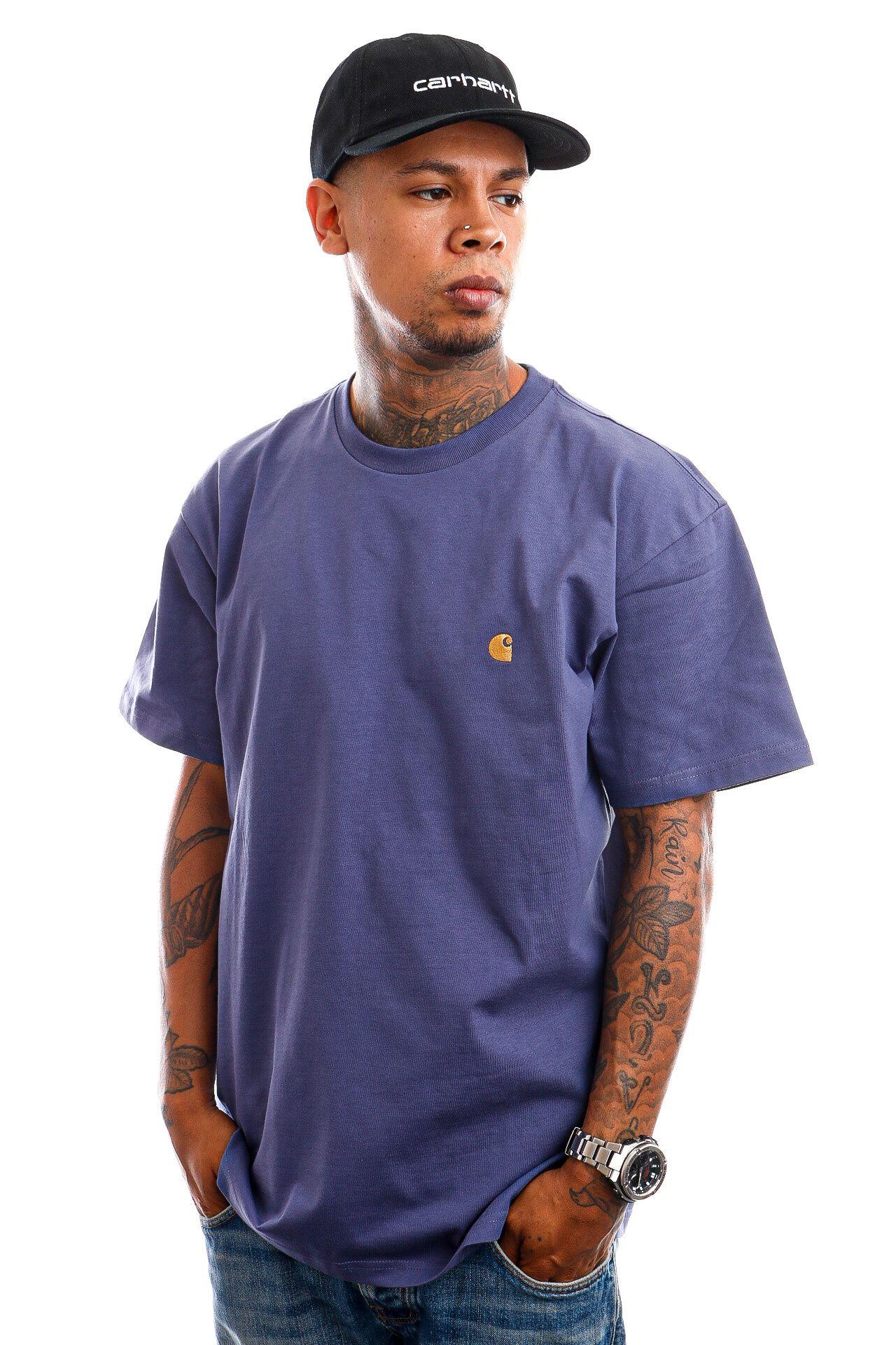Afbeelding van Carhartt WIP T-Shirt Carhartt S/S Chase Cold Viola / Gold I026391