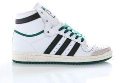 Afbeelding van Adidas Sneakers Top Ten Hi Ftwr White/Core Black/Collegiate Green EF6364