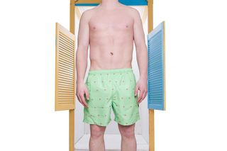 Foto van Pockies Swimshort Star Beach Mint Green - Ice Cones