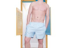 Afbeelding van Pockies Swimshort Callela Baby Blue / White