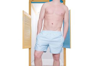 Foto van Pockies Swimshort Callela Baby Blue / White