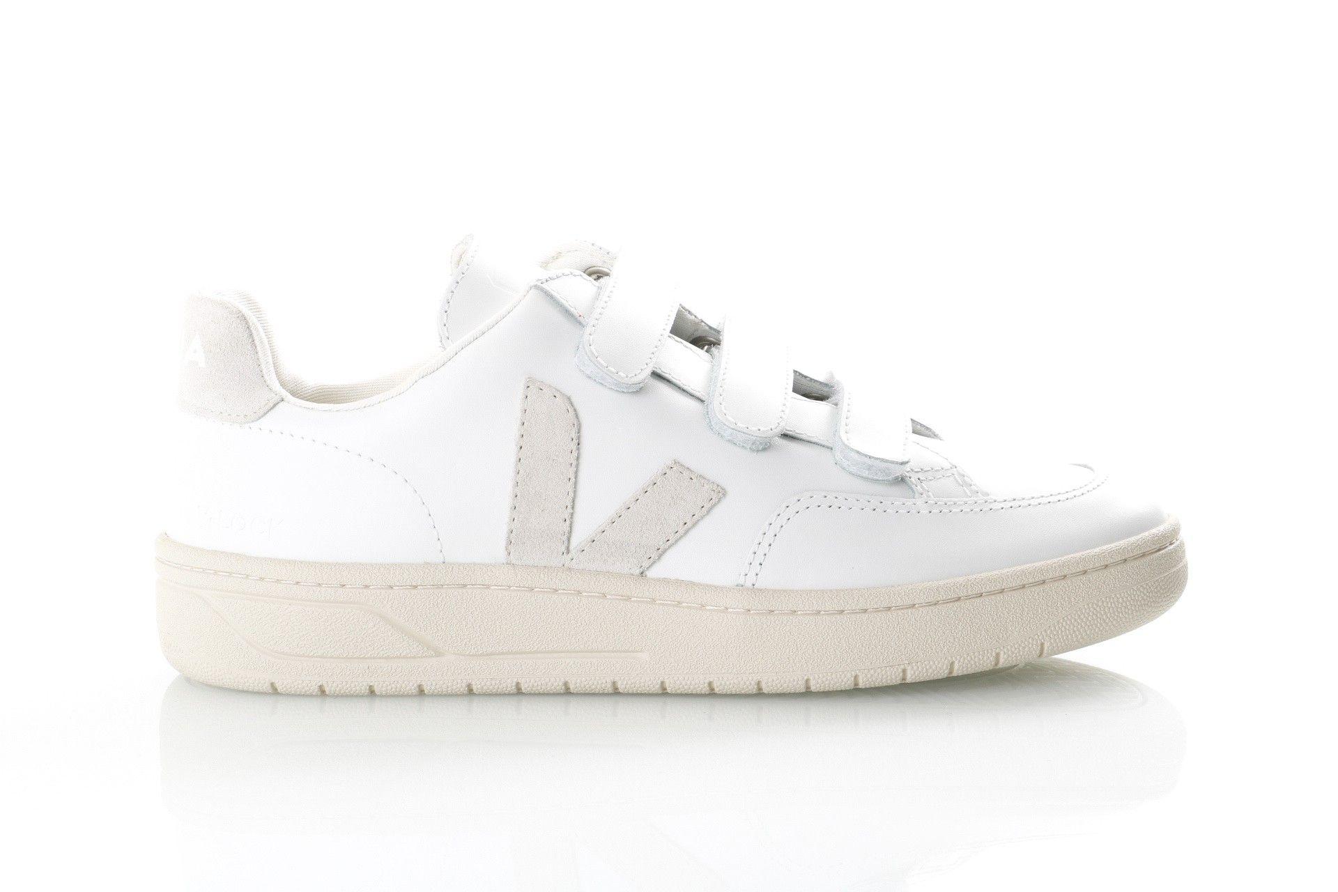 Afbeelding van Veja V-12_Velcro Xc021535 Sneakers Extra White/ Natural