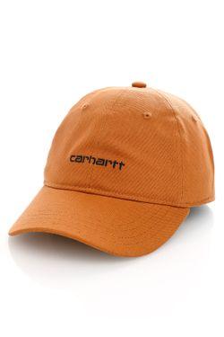 Afbeelding van Carhartt Dad Cap Canvas Script Cap Rum / Black I028876