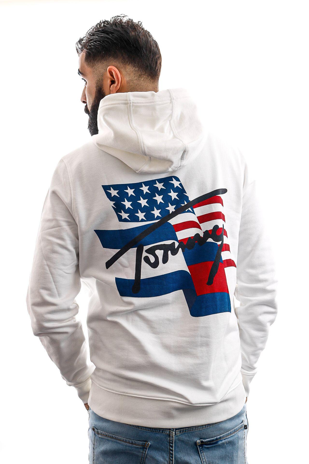 Afbeelding van Tommy Hilfiger Hooded TJM FLAG GRAPHIC HOO, YBR White DM0DM08703