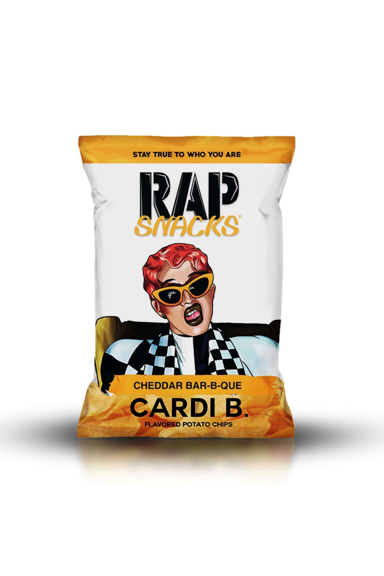 Afbeelding van Rap Snacks Cheddar Bar-B-Que Cardi B 78 gr